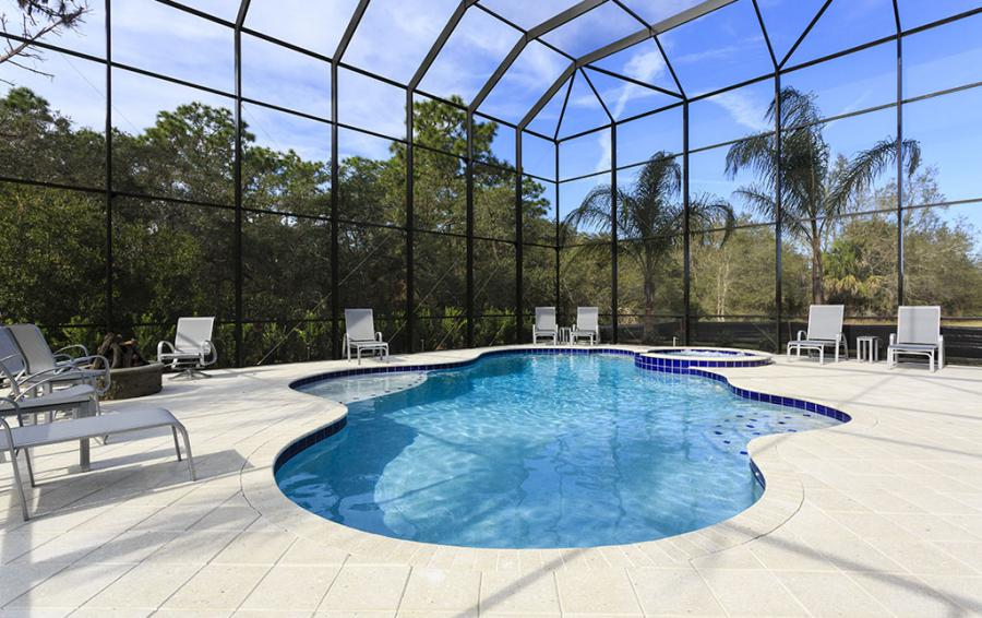 Pool Enclosure- Sea Chest - 7 Bedroom Manor with Private Pool - Homes4uu