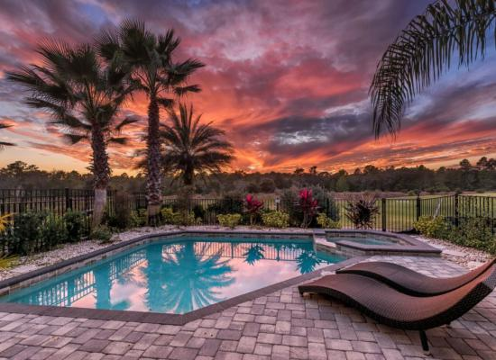 Pool at Twilight - On The Wind - 5 Bedroom Contemporary Luxury Family Vacation Home - Homes4uu