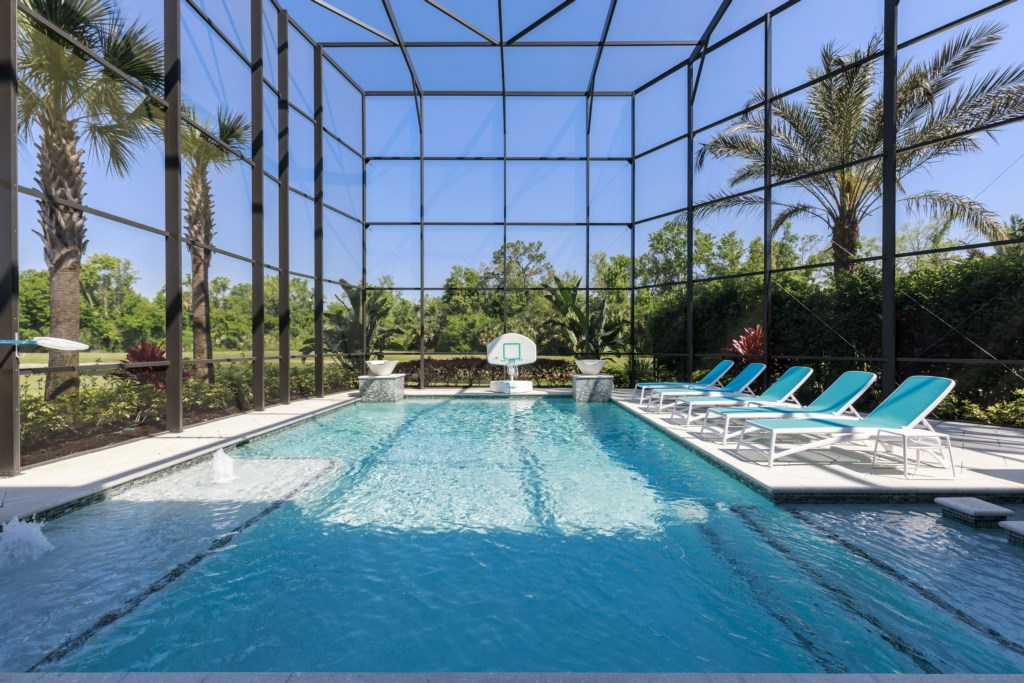 Private Pool FullWet Bar and Stairwell - Hopesail - 10 Bedroom Reunion Resort Vacation Home - Homes4uu