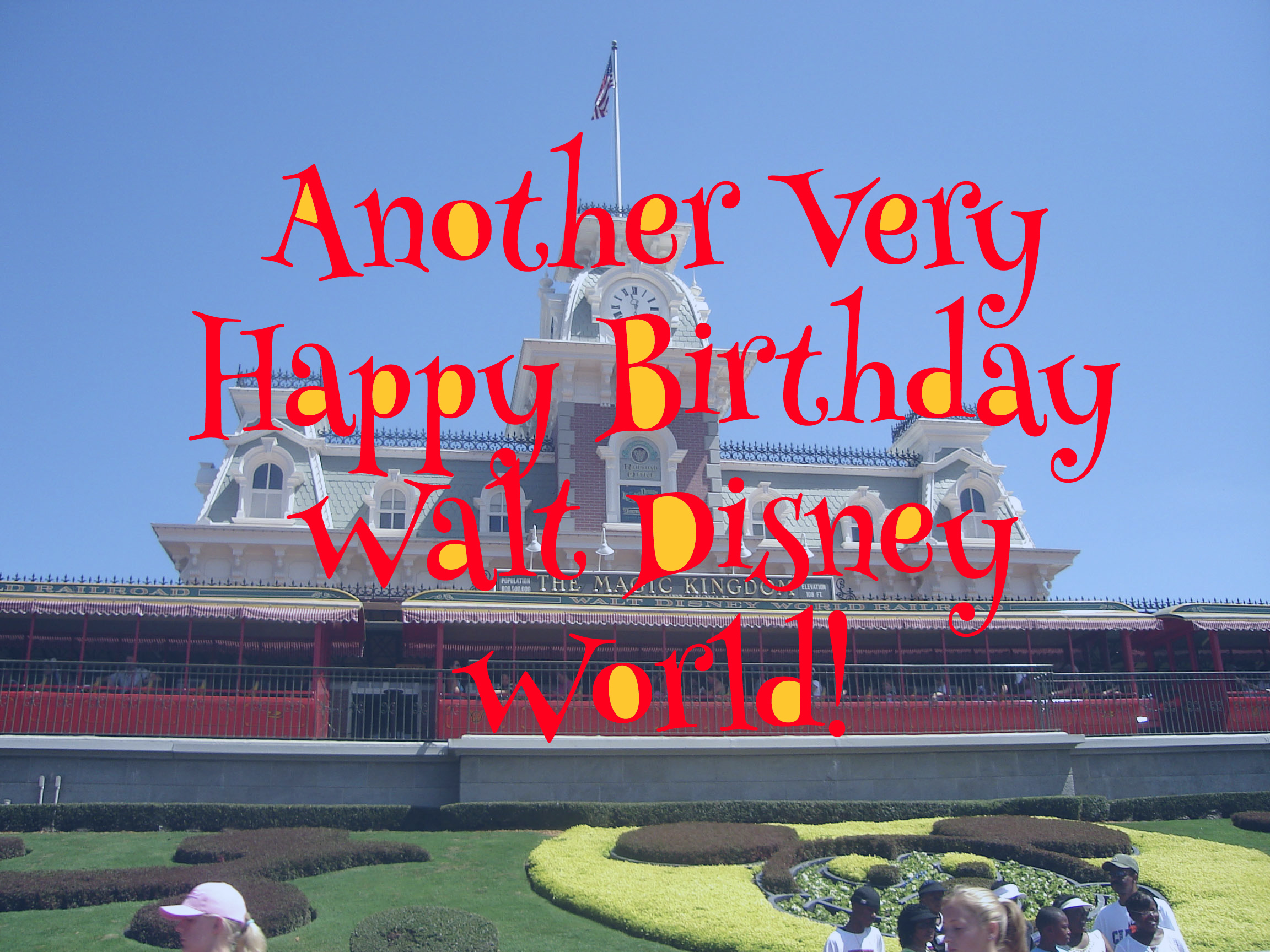Happy Birthday Walt Disney World Inset