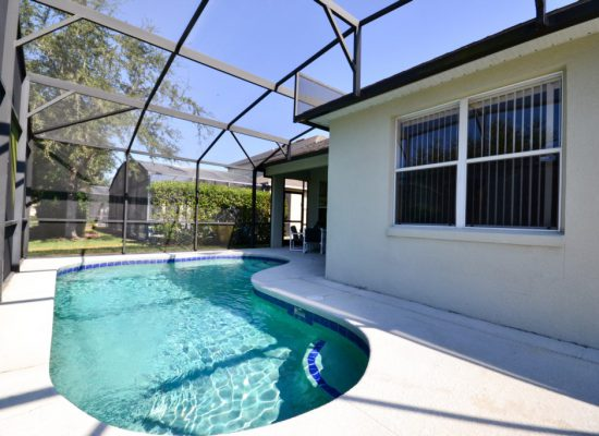 Pool Deck - Cocoa Villa - 4 Bedroom - Orlando Area Resort Vacation Home - Homes4uu