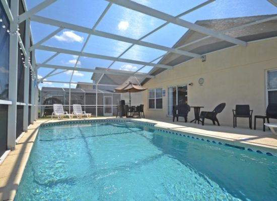 Pool Deck with Lounge Chairs - Bloomingdale Villa - 4 Bedroom Orlando Area Resort Vacation Home - Homes4uu