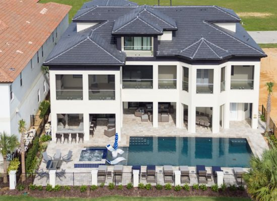 Aerial View - Captain's Chair - 9 Bedroom - Luxury Orlando Vacation Home - Homes4uu