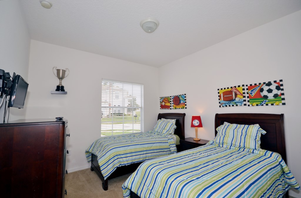 Bedroom - 3 - Twin Beds - Minniehaha Villa - 4 Bedroom Orlando Area Resort Vacation Home - Homes4uu