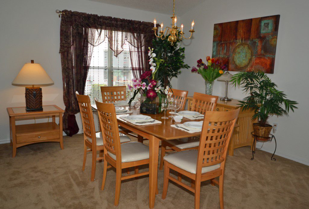 Dining Room with Seating for Six - Oriental Charm - 4 Bedroom - Disney Area Resort Vacation Home - Homes4uu