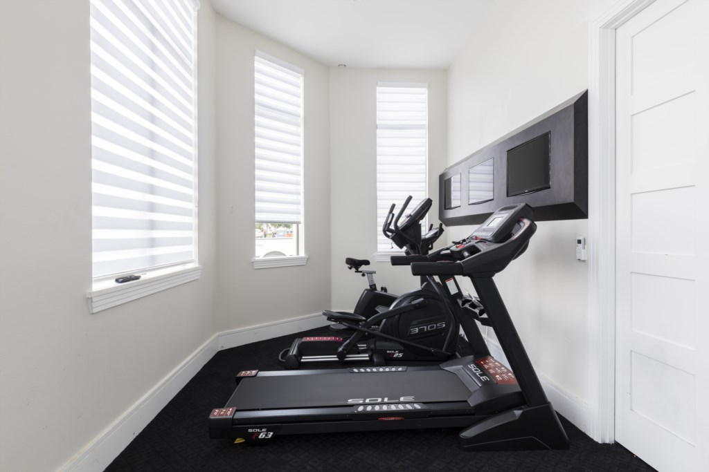 Gym Equipment - Captain's Chair - 9 Bedroom - Spectacular Destination With a Star Trek Theater Entertainment Center Vacation Home - Homes4uu