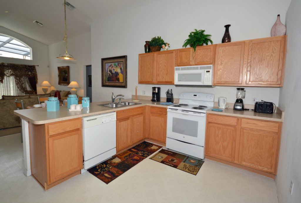 Kitchen Fully Equipped - Oriental Charm - 4 Bedroom - Disney Area Resort Vacation Home - Homes4uu