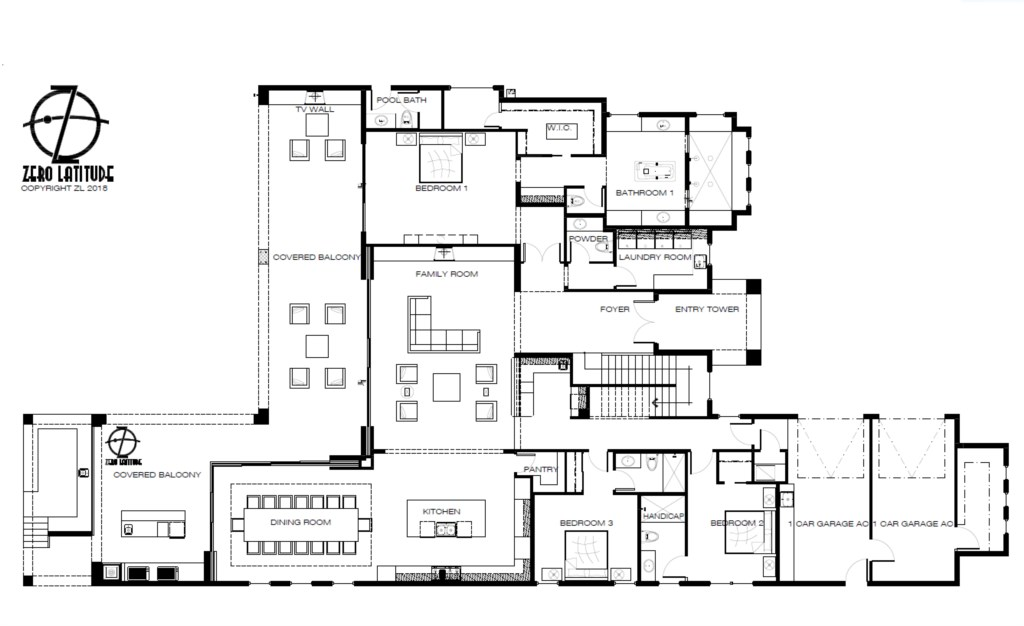Floor Plan 1 - Maui - 9 Bedroom Themed Orlando Vacation Home - Homes4uu