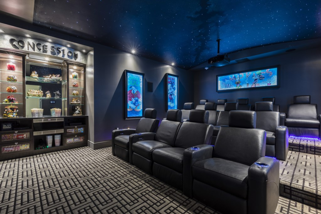 Theater Room - Maui - 9 Bedroom Themed Orlando Vacation Home - Homes4uu
