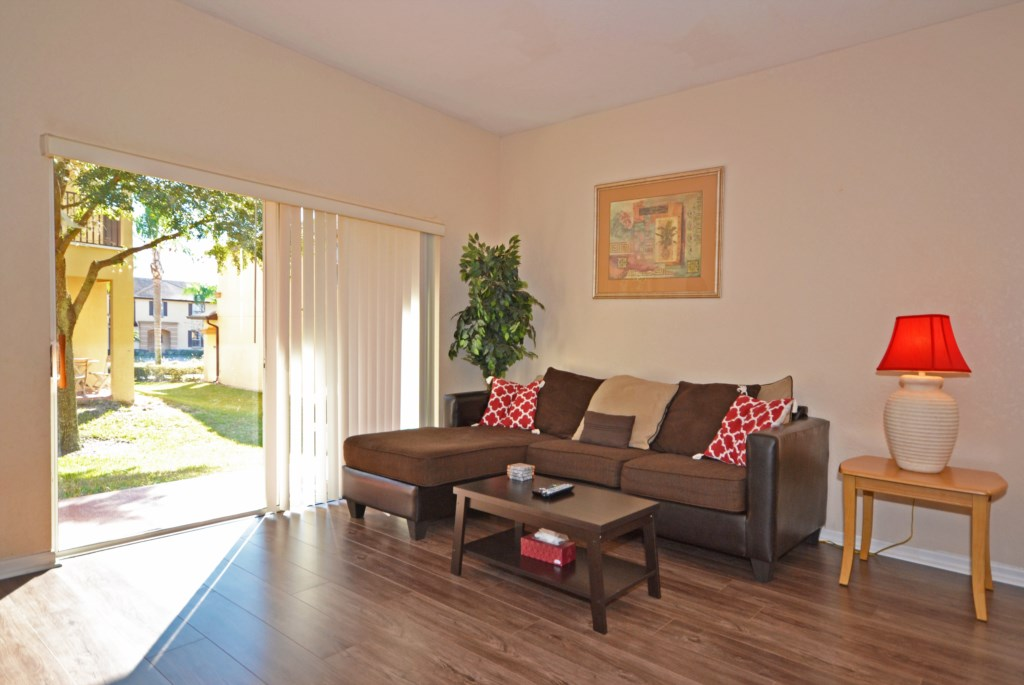 Living Room Couches - Calabria Villa - 4 Bedroom Orlando Area Family Vacation Townhouse - Homes4uu
