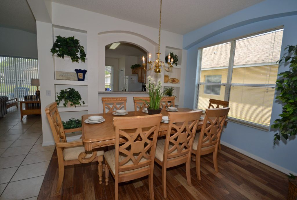 Dining Room - St. Kitts - 6 Bedroom - Disney Area Family Vacation Home With Private Pool - Homes4uu