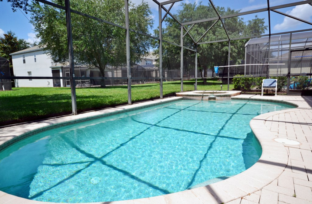 Enclosed Private Pool - Chateau Soleil - 5 Bedroom - Disney Area Private Pool Home - Homes4uu
