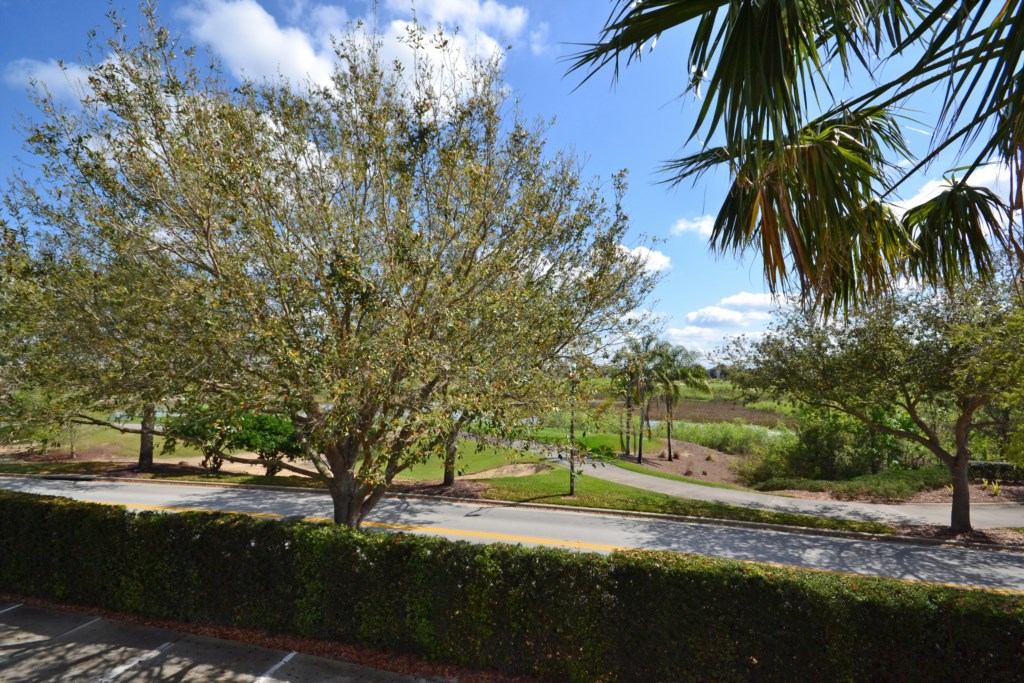 View From Upstairs Balcony - Reunion Retreat - 3 Bedroom - Disney Area Private Pool Vacation Home -Homes4uu