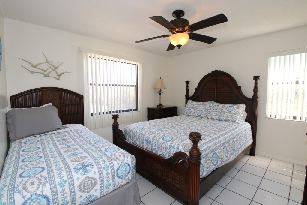 Bedroom - 2 - Two Twin Beds - Perrywinkle - 2 Bedroom Condo - Anna Maria Island Beach vacation Home - Homes4uu
