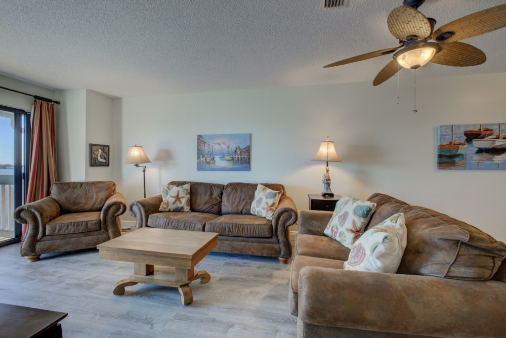 Living Room Comfy Couches and Chairs - Moon Snail - 2 Bedroom Anna Maria Island Vacation Condo - Homes4uu