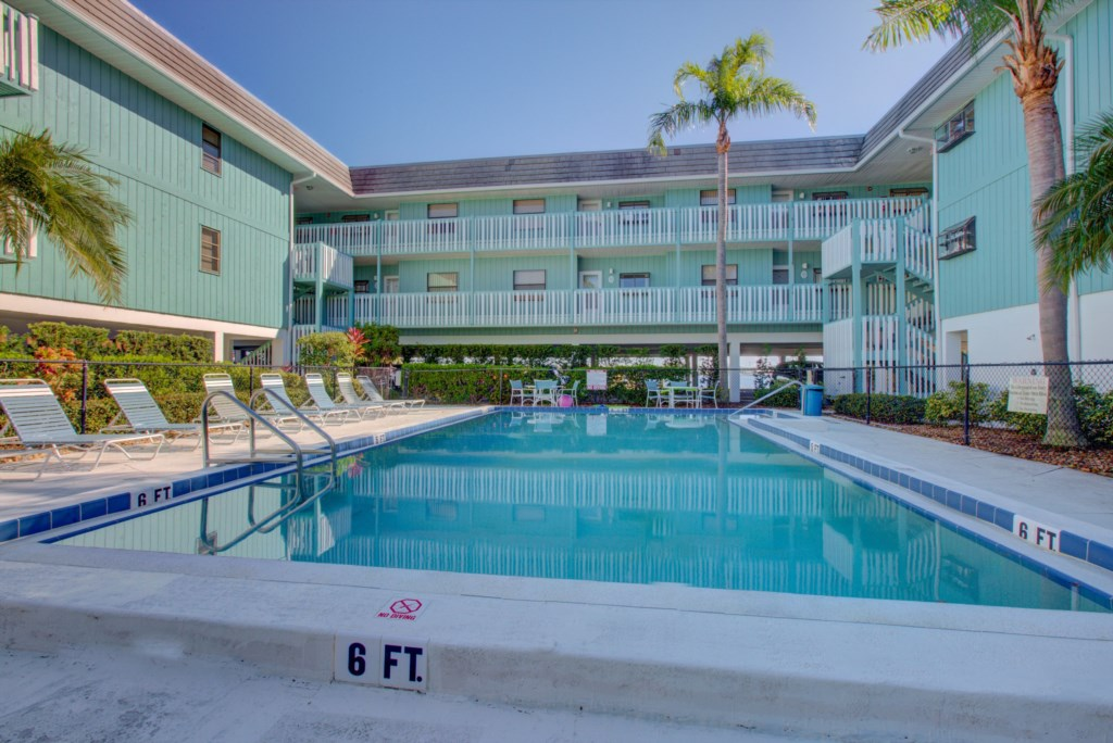 Pool for guests only - Moon Snail - 2 Bedroom Anna Maria Island Vacation Condo - Homes4uu