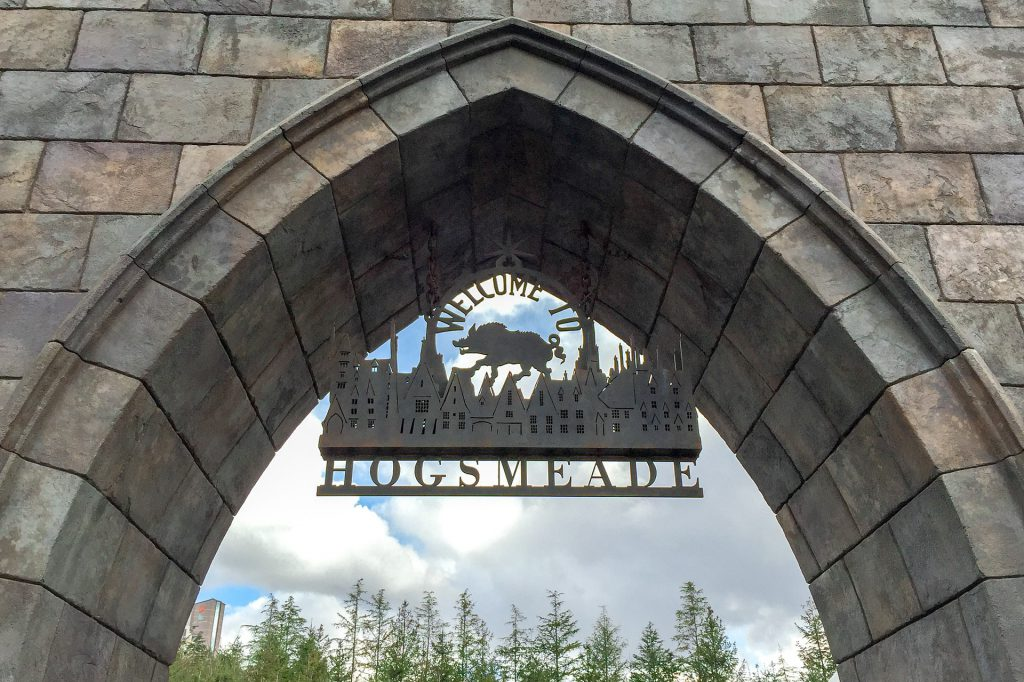 Hogsmead where you'll find Hagrid's Magical Creatures Motorbike Adventure