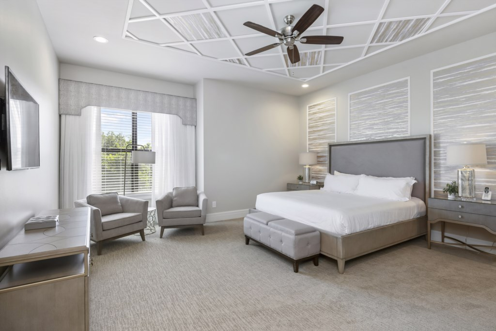 Bedroom - 5 King Size Bed - Pirate's Utopia - 10 Bedroom Disnay Area Custom MansionVacation Home - Homes4uu