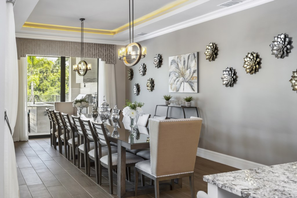 Dining Room - Pirate's Utopia - 10 Bedroom Disnay Area Custom MansionVacation Home - Homes4uu