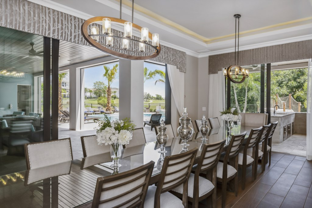 Dining Room Table - Pirate's Utopia - 10 Bedroom Disnay Area Custom MansionVacation Home - Homes4uu