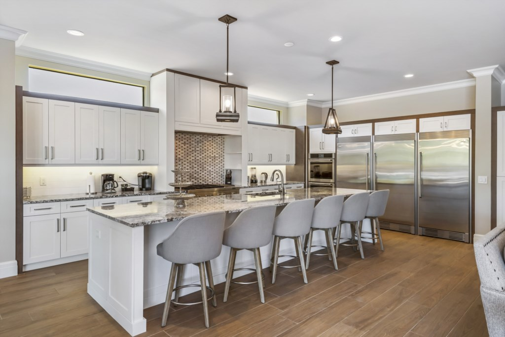 Kitchen Fully Equipped - Pirate's Utopia - 10 Bedroom Disnay Area Custom MansionVacation Home - Homes4uu