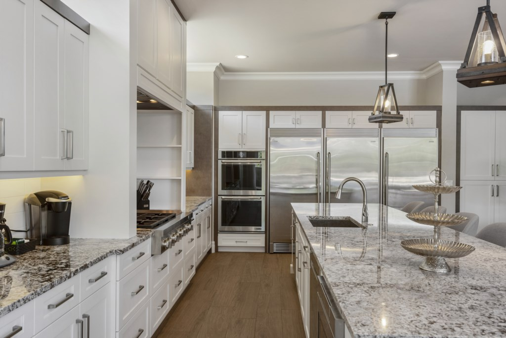 Kitchen stainless Steel Appliances - Pirate's Utopia - 10 Bedroom Disnay Area Custom MansionVacation Home - Homes4uu