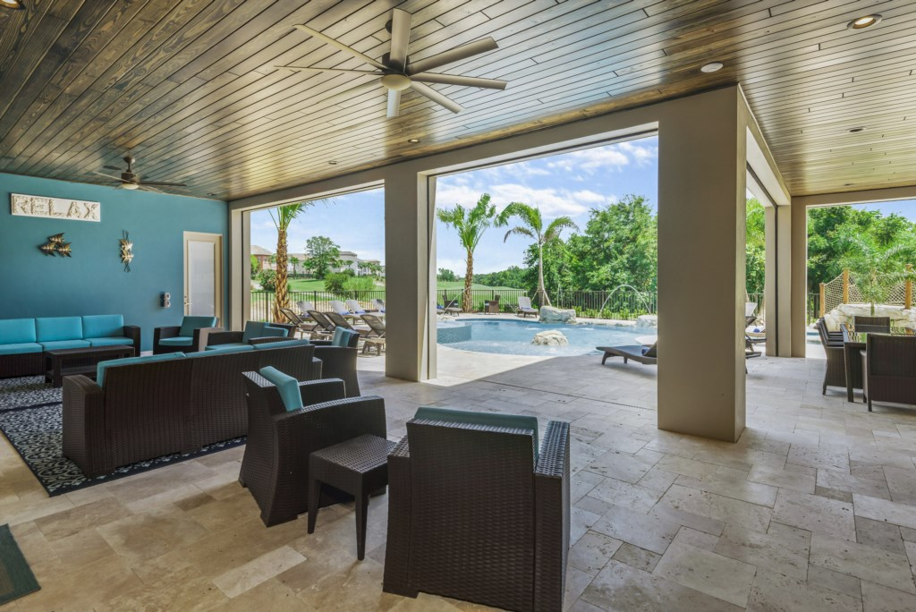 Outdoor Living Room - Pirate's Utopia - 10 Bedroom Disnay Area Custom MansionVacation Home - Homes4uu