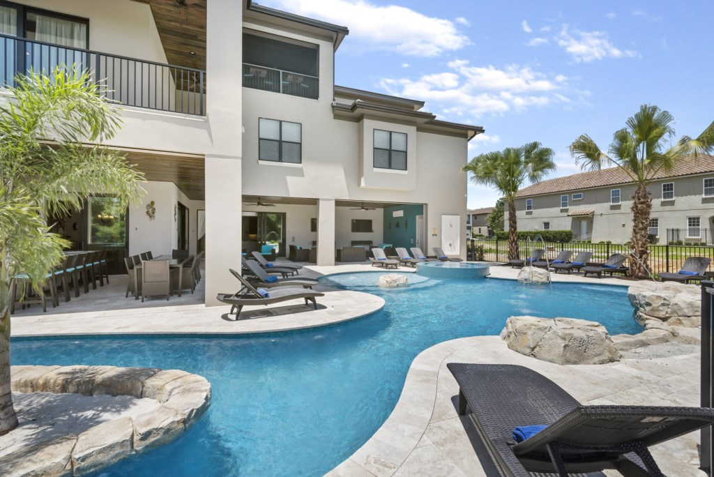 Pool Lazy River - Pirate's Utopia - 10 Bedroom Disnay Area Custom MansionVacation Home - Homes4uu