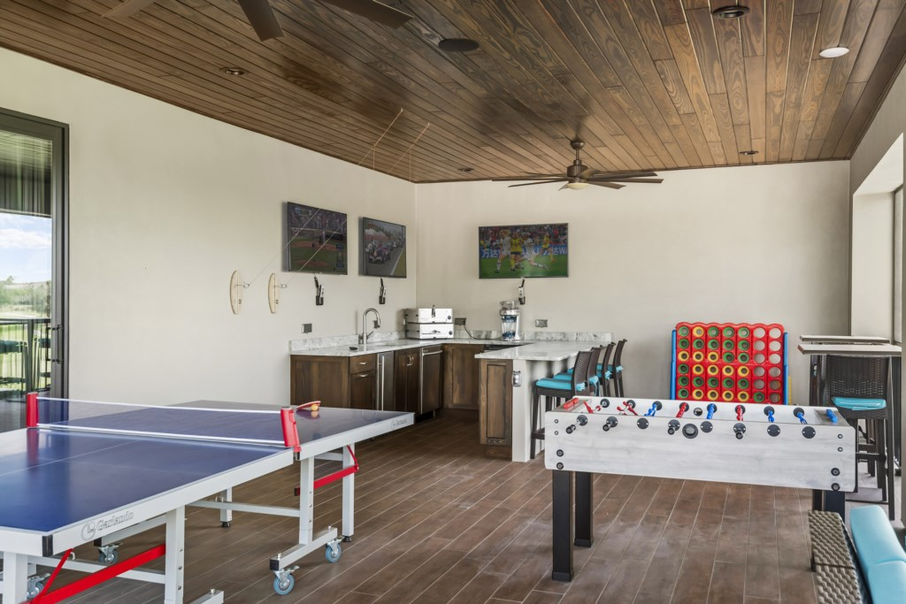 Upper Balcony Bar and Games - Pirate's Utopia - 10 Bedroom Disnay Area Custom MansionVacation Home - Homes4uu